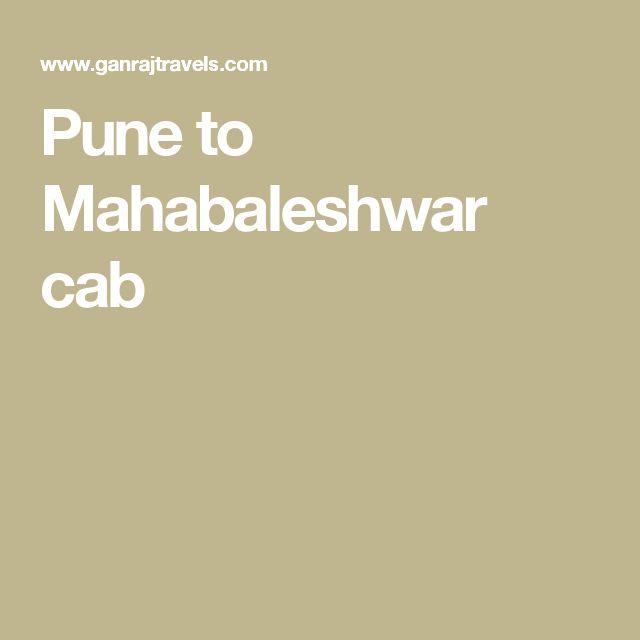 Pune to Mahabaleshwar cab