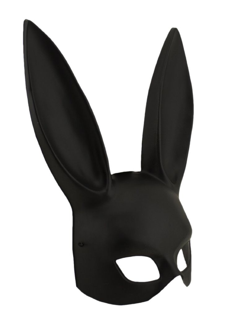 Channel your inner Kate Moss with this Adorox Black Sexy Bondage Bunny Rabbit Mask for Halloween.