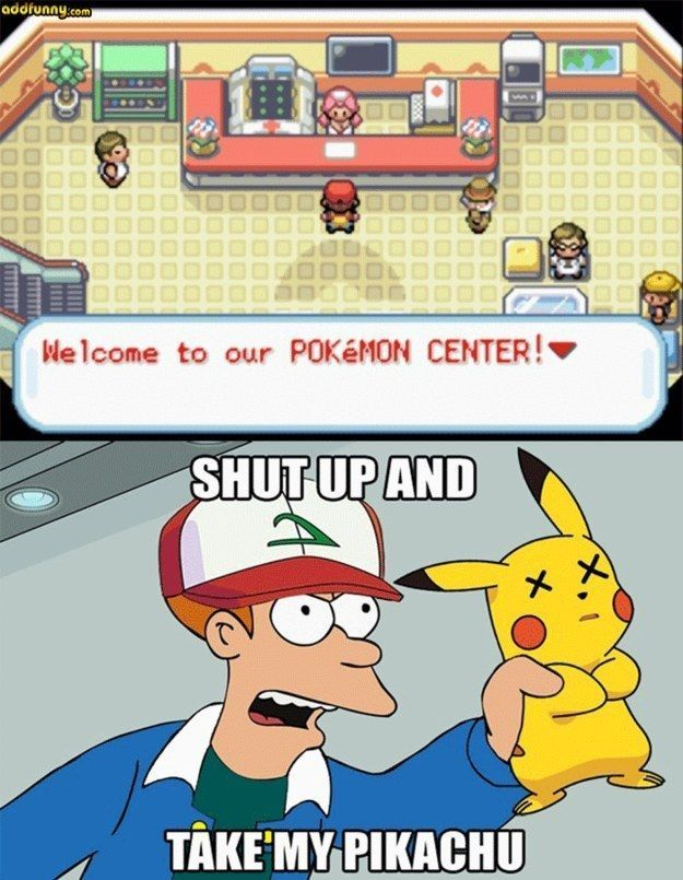 On urgent care. | 21 Jokes Only Pokémon Trainers Will Understand #pokemonjokes