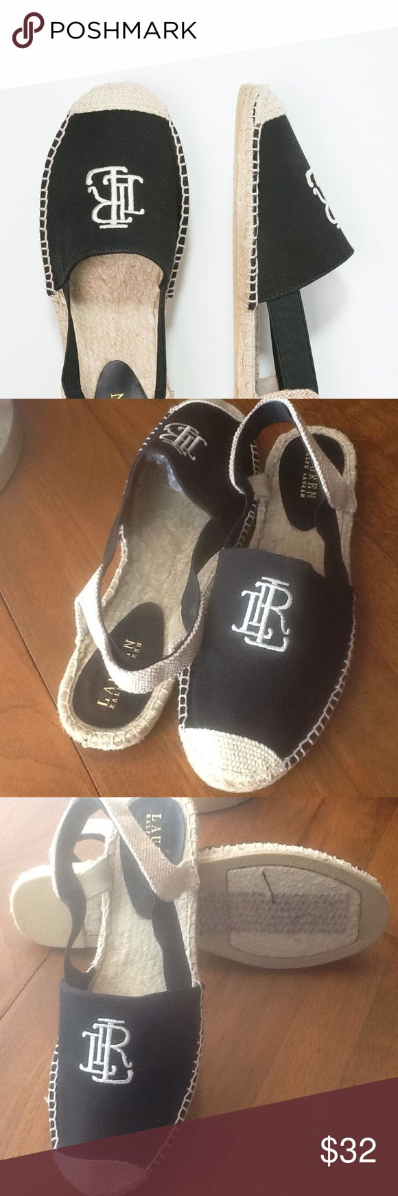 RALPH🏇LAUREN SHOES NWOT Smart looking classic espadrilles as only RL can do. 🎩 Brand new.  Perfect for a summer afternoon at the beach or market.  Pair with your skinnys or skirt and a crisp white linen top.  Open to reasonable offers 🕶. Ralph Lauren Shoes Espadrilles