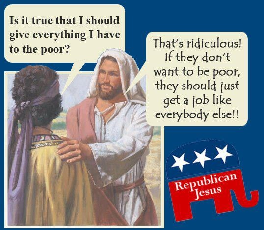"I'm sure it's just a coincidence that I've seen this attitude from baby boomer trolls on my boards - ""Republican Jesus"""