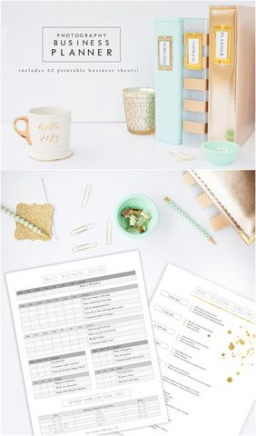 Photography Business Planner - Includes 62 printable business sheets!