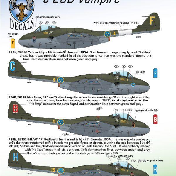 J 28B D.H. Vampire 1/72 | MooseRepublic