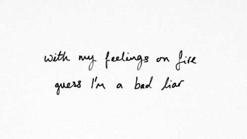 Bad liar - Selena gomez lyrics