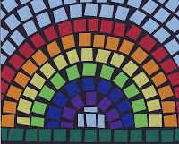 Art Projects for Kids: Mosaic Rainbow