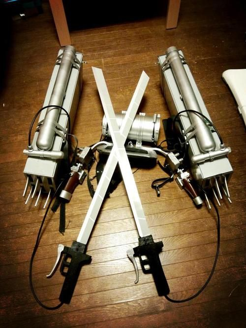 "Build Your Own ""Attack On Titan"" 3D Maneuver Gear guide to creating your own gear"