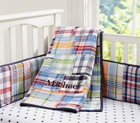 Madras Nursery Bedding Set #Pottery Barn Kids