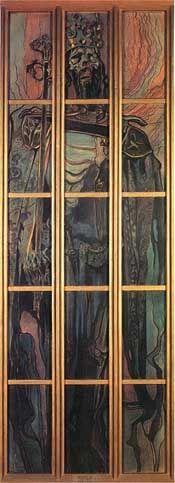 Casimir the Great  by Stanislaw Wyspianski,  1900-1902, Pastel, 436 x 148 cm  National Museum, Krakow