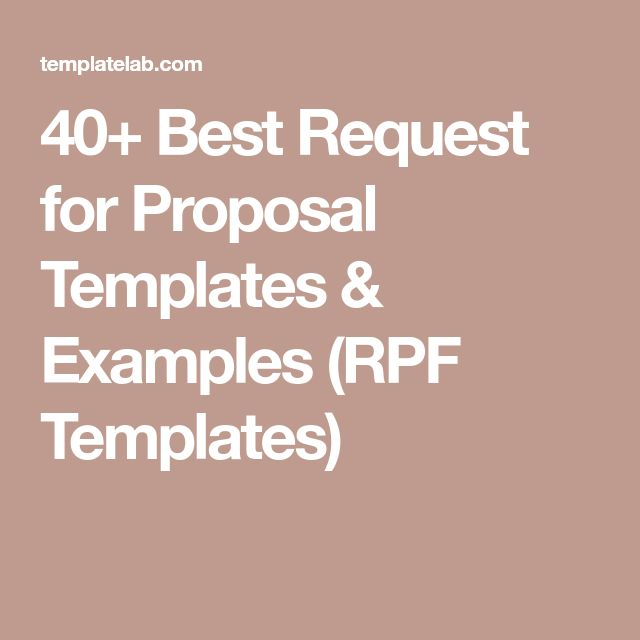 40+ Best Request for Proposal Templates & Examples (RPF Templates)