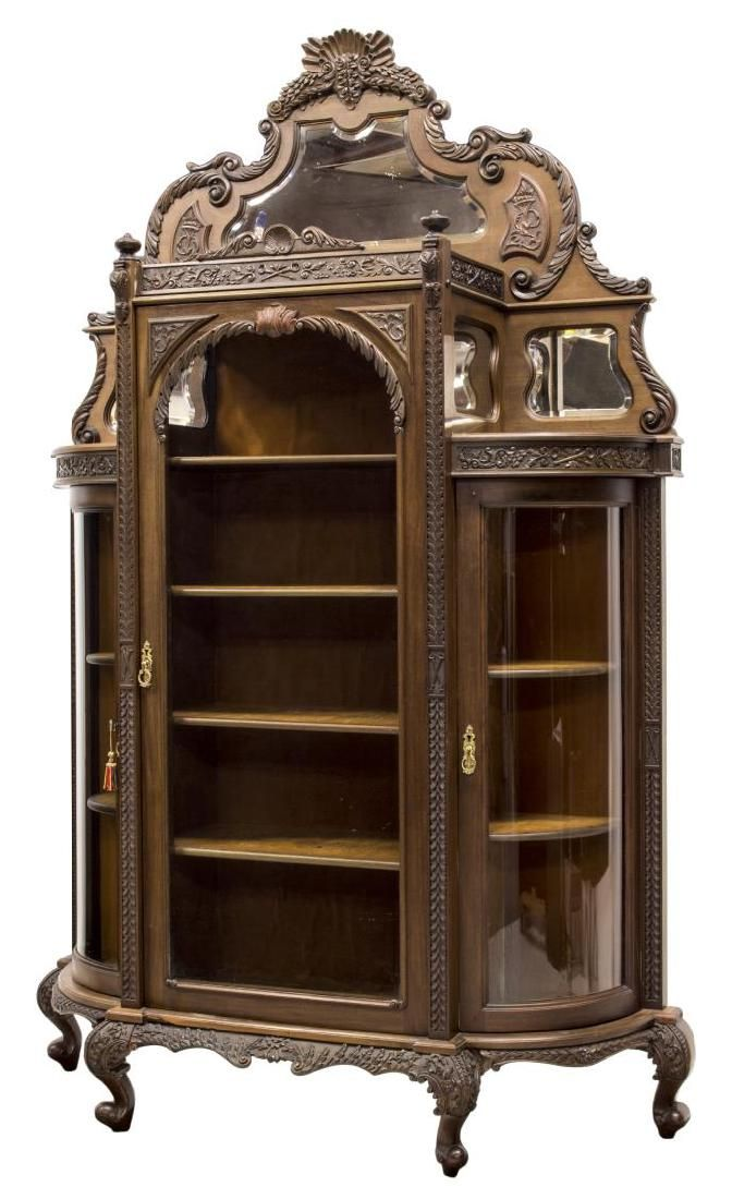 American Mahogany Curved Glass China Cabinet. - 346 Best Display Cabinet And Welsh Dresser Images On Pinterest