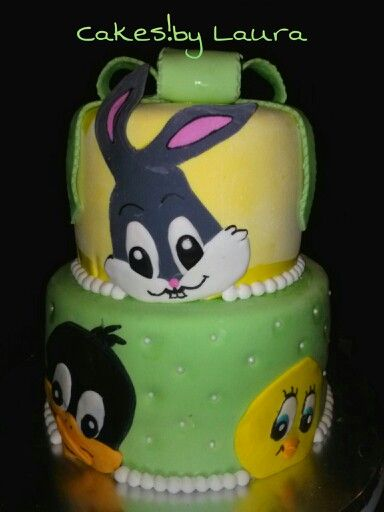 Baby looney tunes cake cakes by laura pinterest for Baby looney tune decoration
