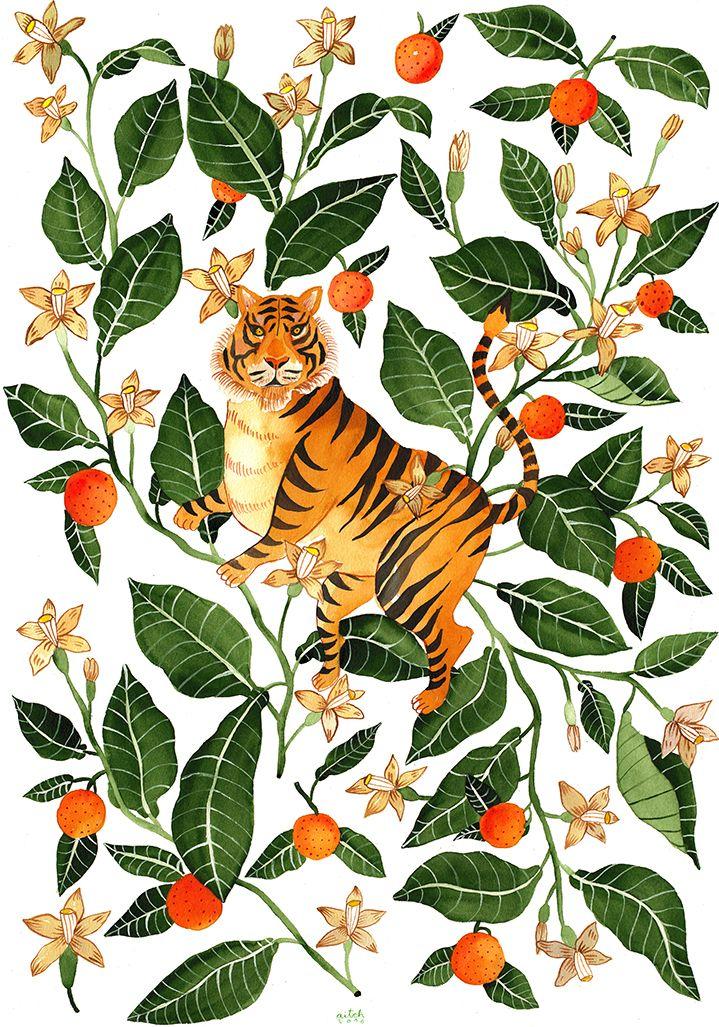 Si te gustan los animales , te gustarán estos originales estampados   Enlace:   http://www.centralillustration.com/illustrators/aitch       ...