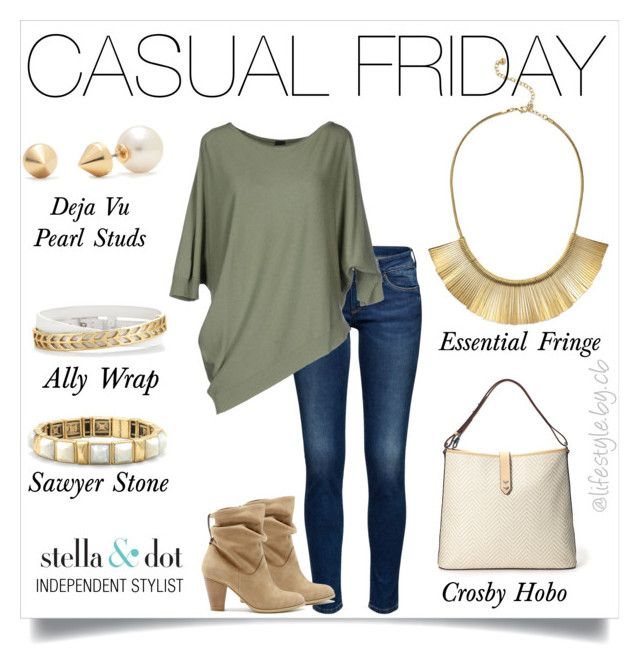 """Casual doesn't have to mean no style. #casualfriday #stelladotstyle"" by cathy-bartlett on Polyvore featuring Stella & Dot, Sole Society, Miss Miss, women's clothing, women's fashion, women, female, woman, misses and juniors"