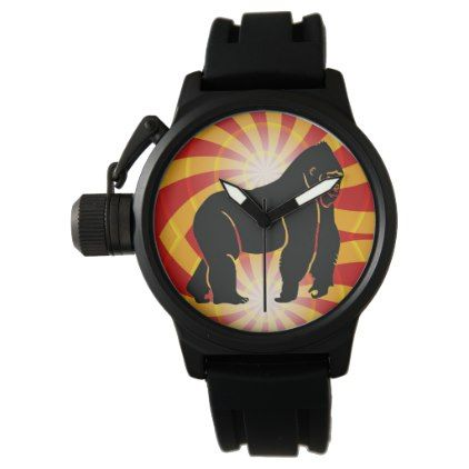 Prim8 Time Crown Protector Black Rubber Strap Wrist Watch - personalize gift idea special custom diy or cyo