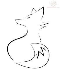 fox drawing outline - Google Search