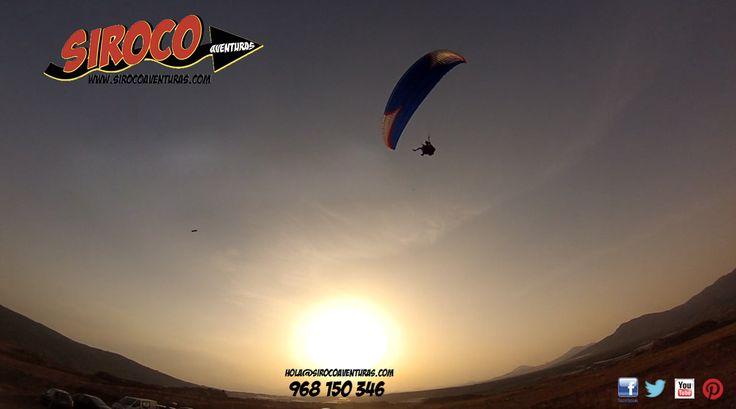 Comparte y disfruta de un 10% de descuento en tu vuelo con #Siroco Aventuras. #Region de Murcia, #parapente