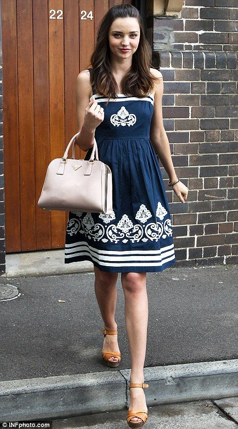 Miranda Kerr in a Collette by Collette Dinnigan dress