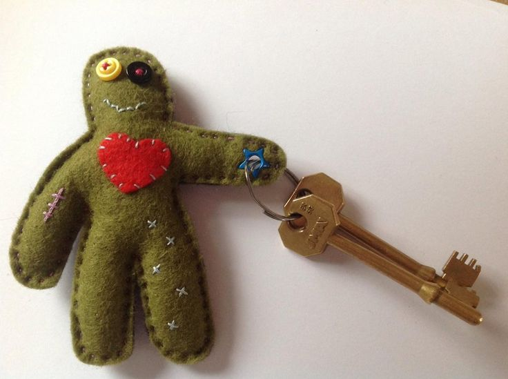 Zombie key ring by Chick from Leeds, zombie apocalypse, zombie blush, voodoo doll, walking dead, key hook, bag charm