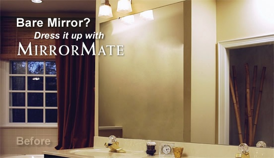 Mirrormate frames quick easy custom mirror frame kit - Mirror frame kits for bathroom mirrors ...
