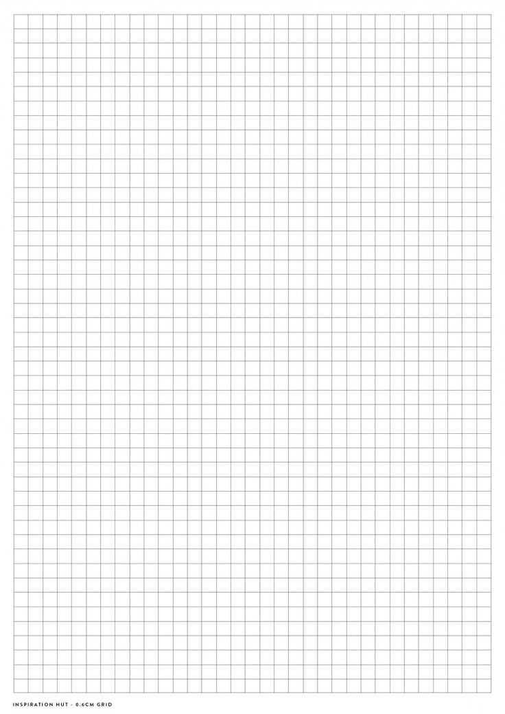 Printable Graph / Grid Paper PDF Templates - Inspiration Hut