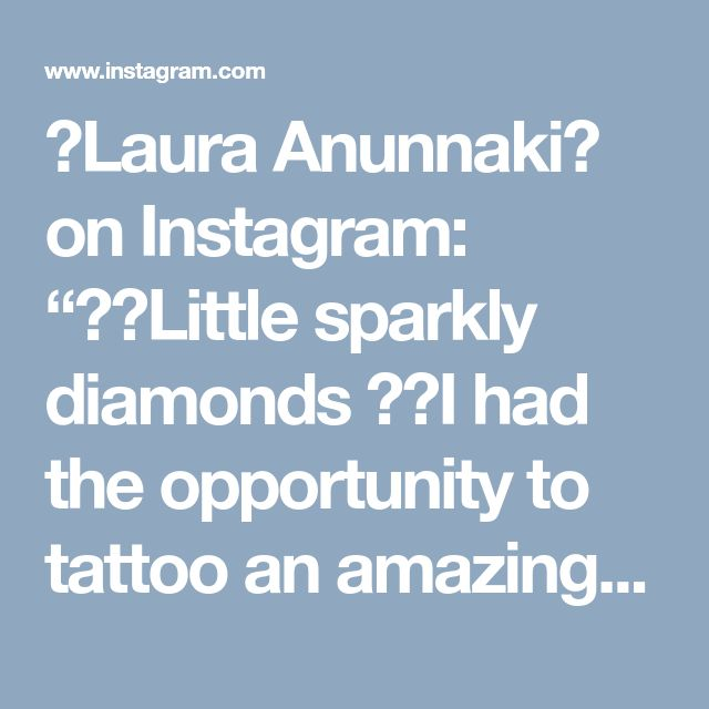 """🦄Laura Anunnaki🦄 on Instagram: """"✨💎Little sparkly diamonds 💎✨I had the opportunity to tattoo an amazing lady japanese tattoo artist 😭😱💜💖 thank you so much again for trust…"""" • Instagram"""