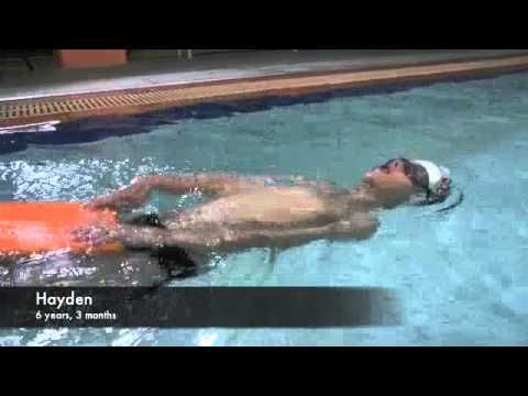 uSwim, level 3, skill 5 - how to teach your child to swim Backstroke, swimming lessons - YouTube