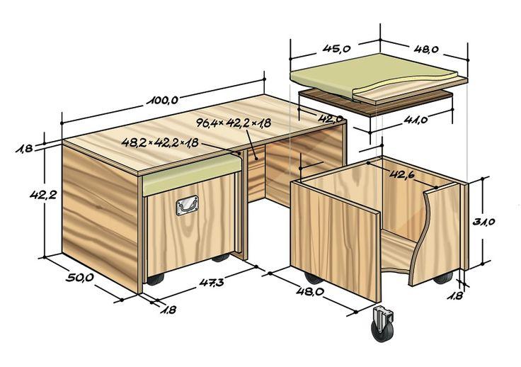 Sitzbank für Balkon selber bauen