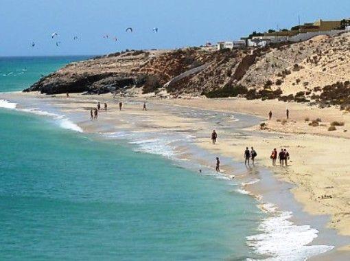 Esmeralda is a popular beach on the area of Costa Calma.