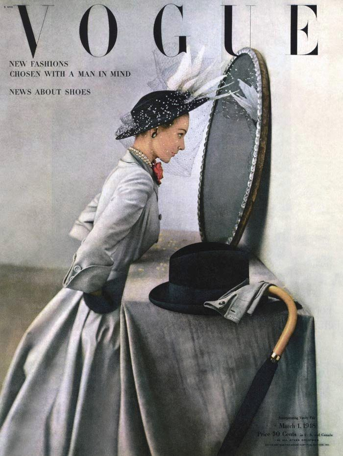Vogue, 1948 #1940sfashion #1940sclothing #1940sdress (She is having an affair! :0)