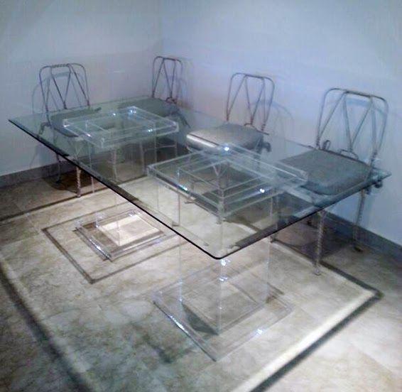 Mesa de comedor realizada en metacrilato por - Mesas de metacrilato ...