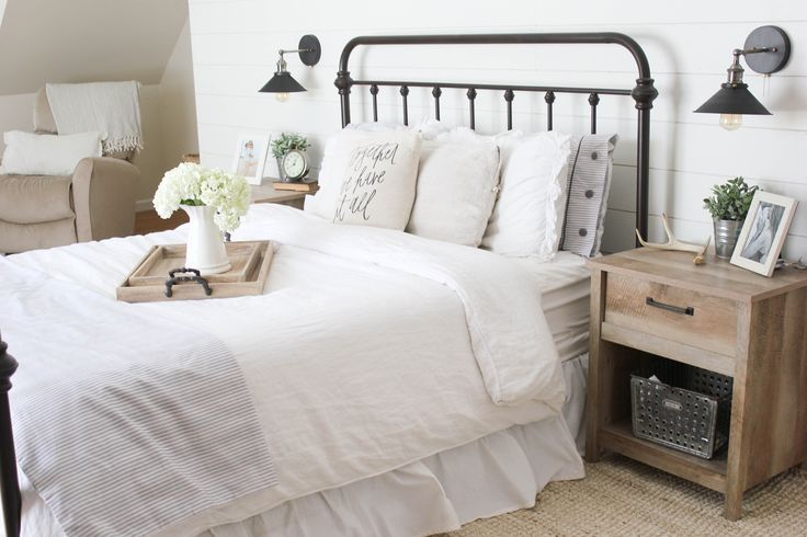 Home // Farmhouse Master Bedroom - Lauren McBride