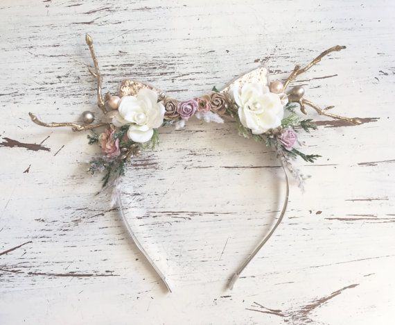 Hey, I found this really awesome Etsy listing at https://www.etsy.com/listing/471798448/reindeer-headband-deer-antler-headband