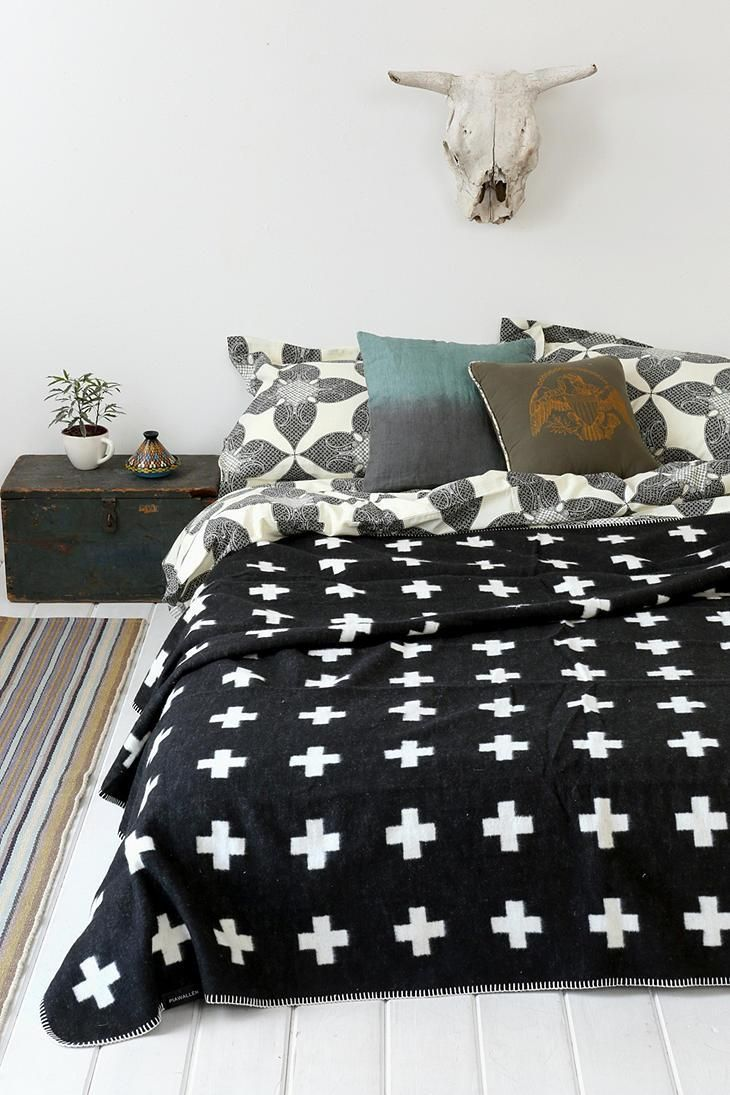 Pia Wallen Cross Throw Blanket #urbanoutfitters