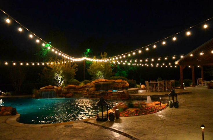 Outdoor String Lights Electric : 77 best images about String / Party Lights Installation by Dallas Landscape Lighting on Pinterest