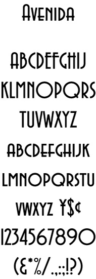 Bowfin Printworks - Font Identification - Type Samples - Bauhaus-style - Curved