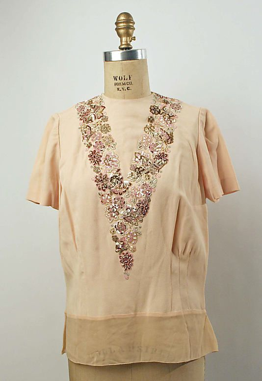 Evening blouse Mainbocher ca. 1949