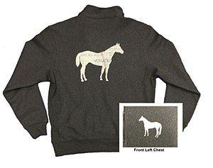 English Horse Grey 1/4 Zip M