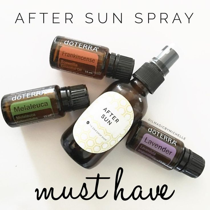 """Michelle Cannon on Instagram: """"My favorite all natural after sun soothing spray!! ☀️After a long day in the sun, our skin needs some love, so I have my bottle ready to go with 15 drops of each Melaleuca, Lavender, and Frankincense, then filled the rest up with FCO. Shake and spray on skin and rub in like lotion! Soothing, refreshing, and rejuvenating!"""