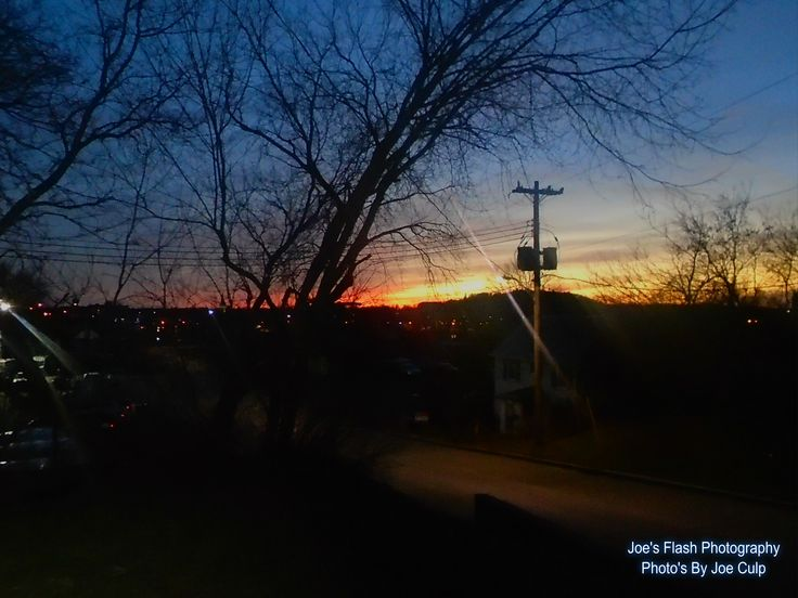 Christmas Day 2015 sunset over Trenton Ontario