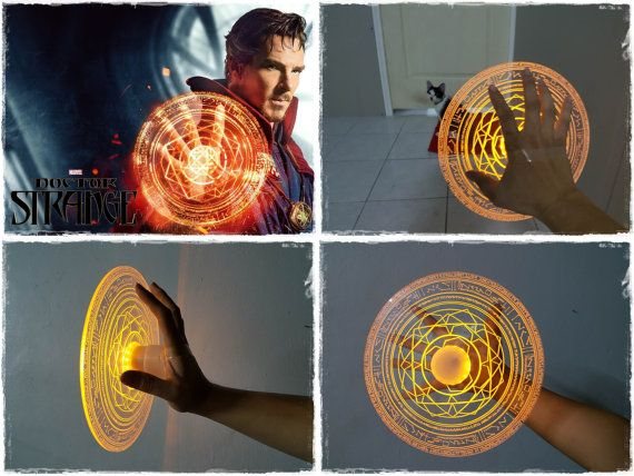 Dr. Strange Light up magic circle props made of 4 mm acrylic sheet engrave with laser machine powered by 23A battery inside  come with 2 base piece for hand strap and standing  available in 3 color Orange , Blue , Green   Item in stock and ready to ship   [[about shipment]]  we will ship your order in 1-3 business day by Thailand post $30 for standard shipment ( take 14-20 days after shiped)  +$35 for Shipping upgrades for ship by EMS world package ( take 3-7 business day after shipped )…