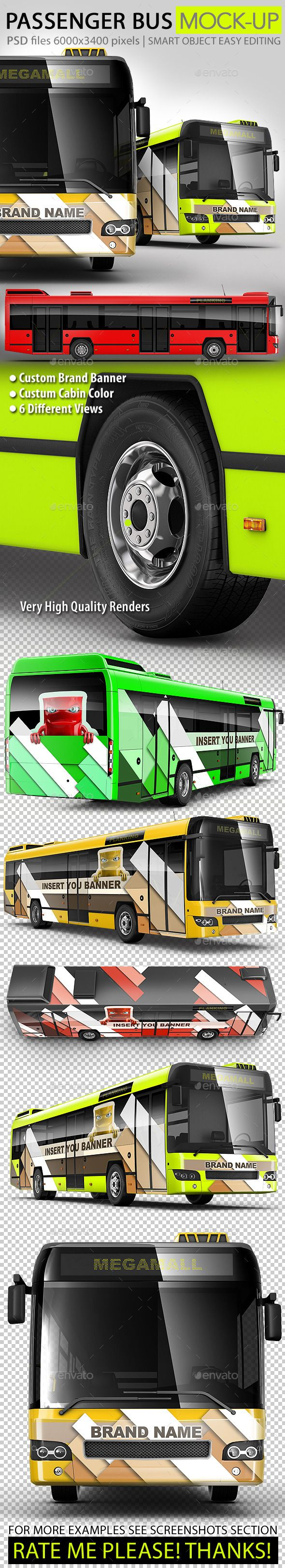 Bus, passenger bus, large Bus mock-up