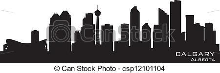 silhouettes of Calgary Landscape - Google Search