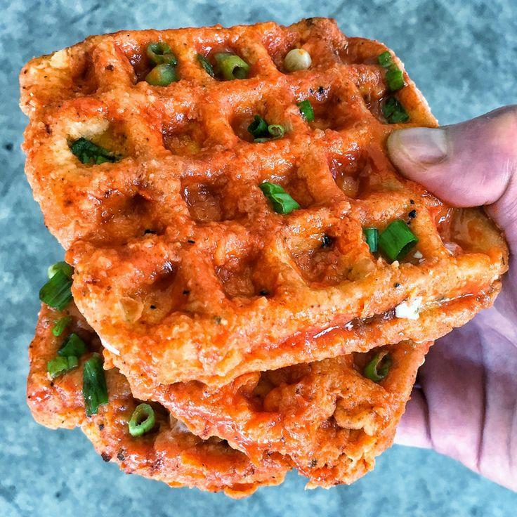 [Homemade] Buffalo Chicken Waffle