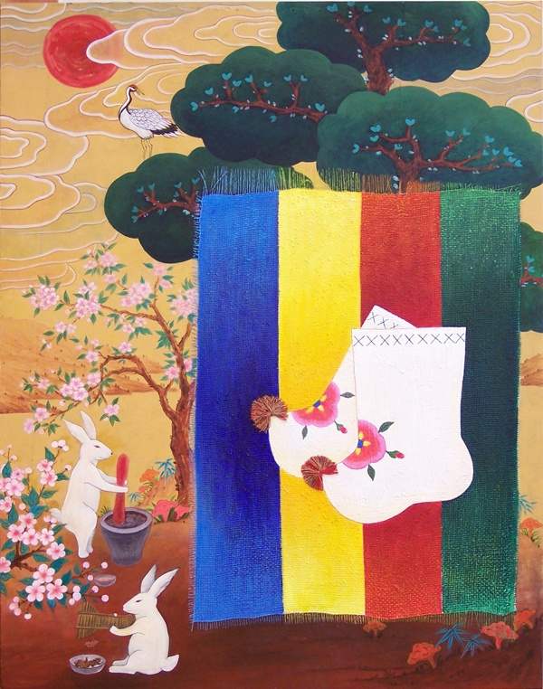 Paintings I Drew... are Paintings of Letters  Young Asian painter Eun-yeong Bong embracing traditional Munjado painting