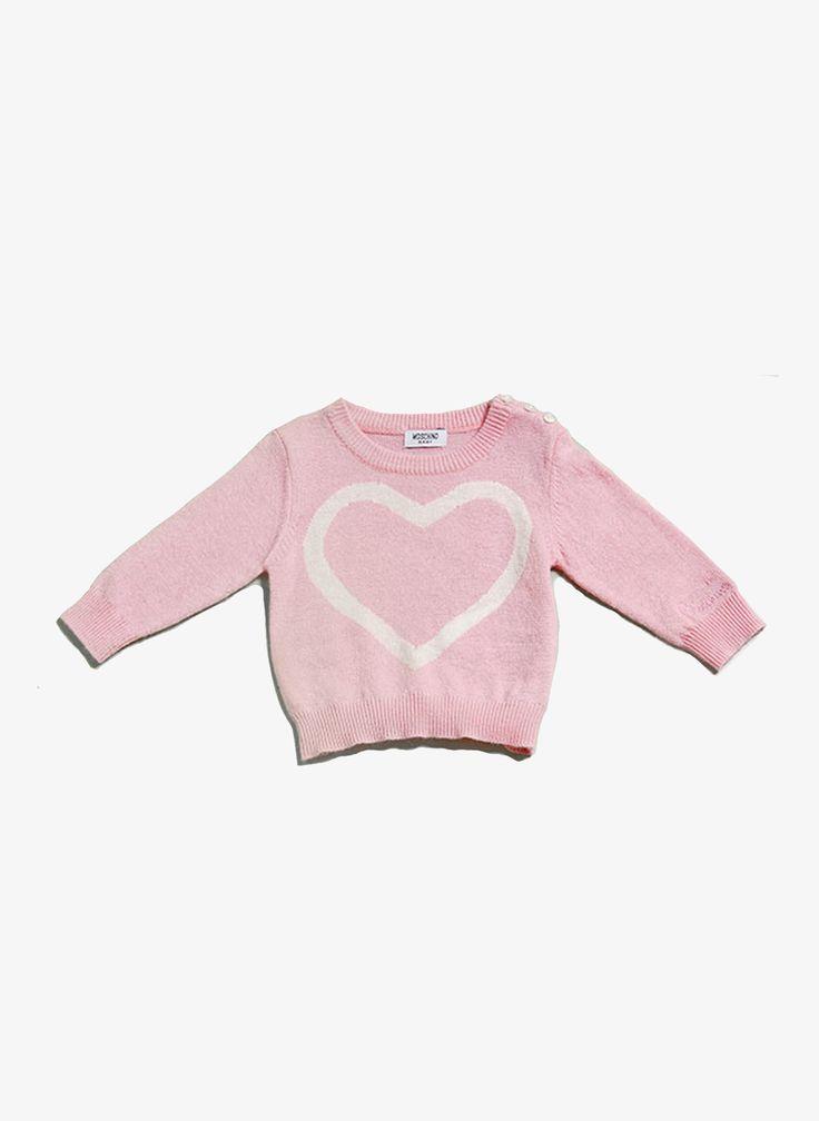 Moschino Baby Heart Sweater - MDW00K - FINAL SALE