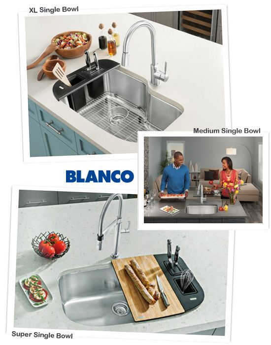 Blanco One Kitchen Sink Single Bowl With Accessories And Inserts, Kitchen  Designs By Ken Kelly