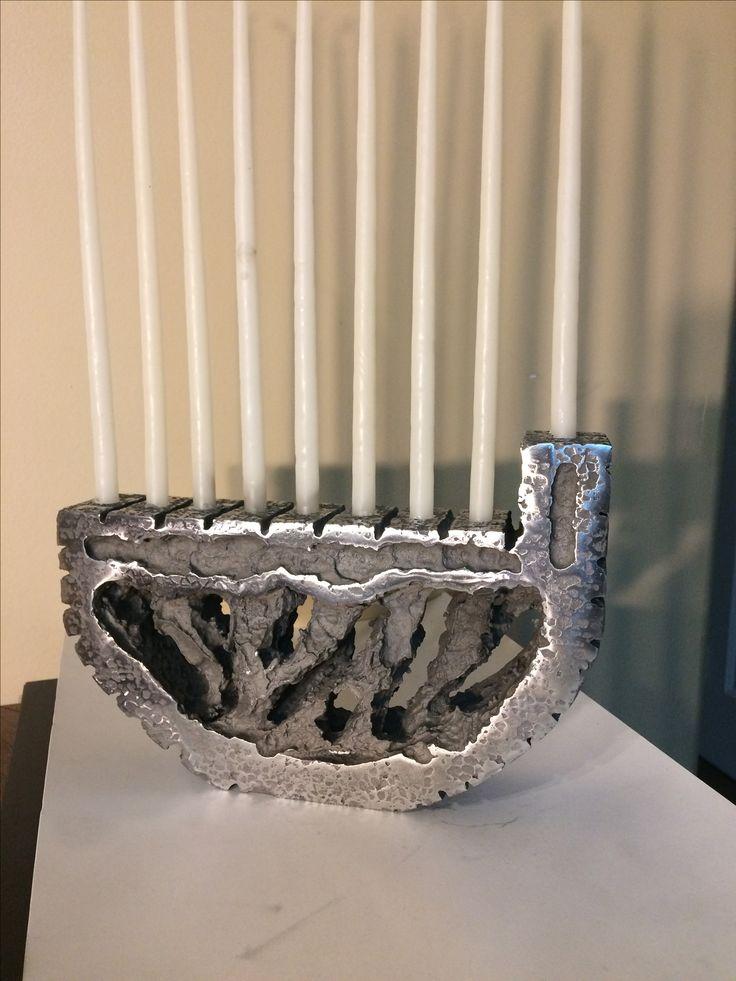 Cast Aluminum Menorah