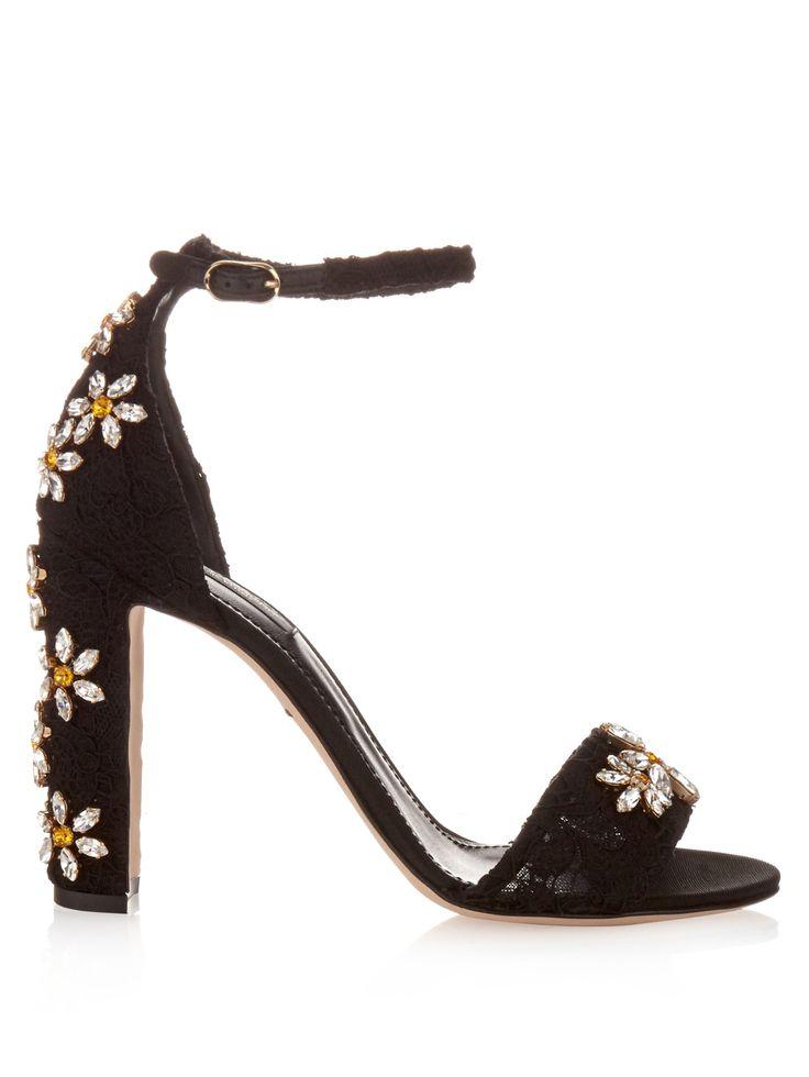 Daisy crystal-embellished sandals | Dolce & Gabbana | MATCHESFASHION.