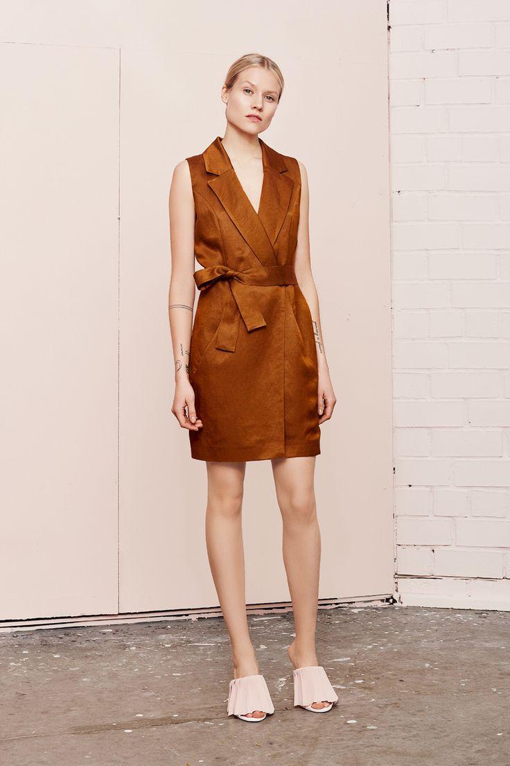 IWIS brown vest dress  UNDRESS SS17 collection  www.iwearundress.com