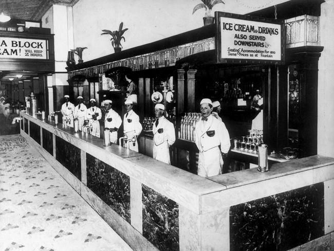 1930s: Hillier's opened its doors in Collins St in 1934. Picture: Herald Sun Image Librar